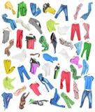 Barwiony odziewa w spadać ilustracji