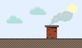 Barwiony płaski tło, wektorowy projekt z cieniem Niebo, chmury, ilustracja wektor