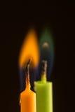 Barwiony płomień Zdjęcie Royalty Free