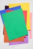barwiony papier Zdjęcia Stock
