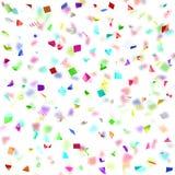 Barwiony papier w locie odizolowywającym na białym tle Zdjęcie Stock