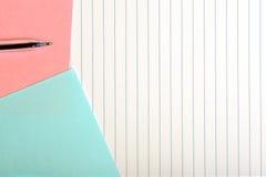 barwiony papierowy pióro Zdjęcie Stock