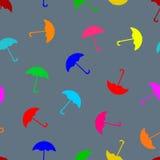 Barwiony parasolowy bezszwowy wzór Zdjęcia Stock