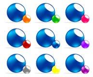 barwiony piłka logo Ilustracji