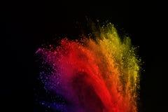 Barwiony prochowy wybuch Barwiony pył splatted obraz royalty free