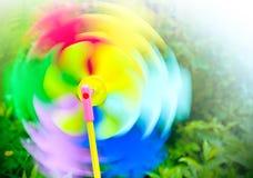 Barwiony przędzalnictwa zabawki śmigło Fotografia Royalty Free