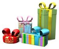 barwiony pudełko prezent royalty ilustracja