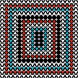 Barwiony retro abstrakta wzór w geometrycznym stylowym klasycznym kolorze z geometrycznych kształtów wektorową ilustracją dla twó royalty ilustracja