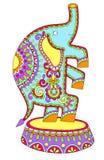 Barwiony rysunek cyrkowy temat - słoń ilustracji
