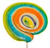 Barwiony słodki cukierek, lizaka kij, świętego Nicholas cukierki, Bożenarodzeniowi candys odizolowywający, biały tło obraz royalty free