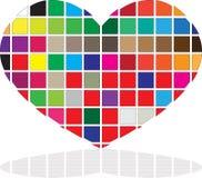 Barwiony serce Zdjęcie Royalty Free