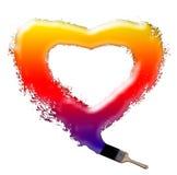 barwiony serce malował tęczę Zdjęcia Royalty Free