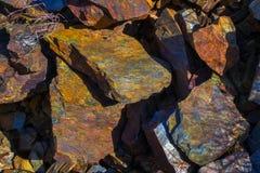 Barwiony skały tło Zdjęcie Stock