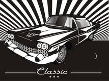 Barwiony stary samochodu stojak ilustracji