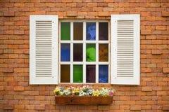 Barwiony szklany okno Zdjęcia Royalty Free