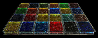 Barwiony szklanych bloków tło Obraz Royalty Free
