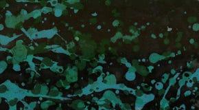 Barwiony sztandar z istnymi pluśnięciami kolor od mój obrazów uświadamiam sobie to w dolewaniu i opryskiwaniu z akrylową farbą na ilustracji