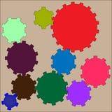Barwiony tło z przekładniami Zdjęcia Royalty Free