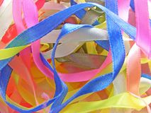 Barwiony tasiemkowy hafciarski tło Zdjęcie Royalty Free