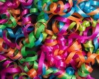 Barwiony tasiemkowy tło. Fotografia Stock