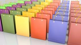 barwiony torba zakupy ilustracja wektor