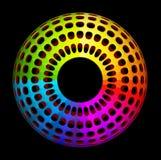 Barwiony torus z dziurami Obraz Stock