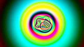 Barwiony VJ materiał filmowy, tło tekstury abstrakt ilustracja wektor