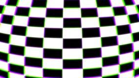 Barwiony w kratkę 3d kształtuje, komputer wytwarzający nowożytny abstrakcjonistyczny tło, 3d rendering ilustracja wektor
