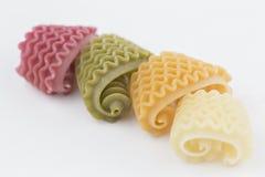 Barwiony Włoski makaron Fotografia Stock