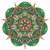 Barwiony wektorowy mandala Zdjęcie Royalty Free
