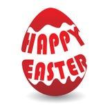 Barwiony Wielkanocny egg_Happy Easterwords royalty ilustracja
