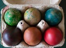 Barwiony Wielkanocny jajko Obrazy Royalty Free