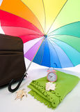 barwiony wielo- parasol Obraz Royalty Free