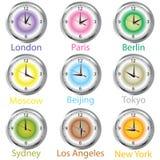 barwiony zegaru timezone ilustracji
