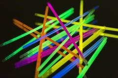 Barwionych świateł fluorescencyjny neonowy Obrazy Royalty Free