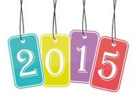 2015 barwionych majcherów Zdjęcia Stock