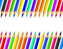 Barwionych ołówków odosobniony tło royalty ilustracja