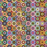 Barwionych okregów bezszwowy wzór Obraz Stock