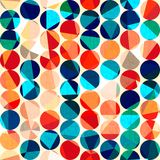 Barwionych okregów bezszwowy wzór z grunge i szklanym skutkiem Zdjęcie Stock