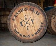 Baryłki bourbonu whisky fotografia stock