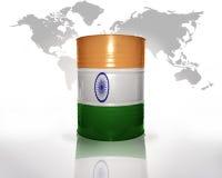 Baryłka z hindus flaga fotografia royalty free