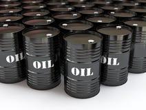 baryłki czerń olej Zdjęcie Stock