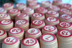 Baryłki od gry ciasnej w rozsypisku loteryjka stojak zdjęcia stock