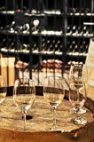 baryłki szkło wino Obrazy Royalty Free