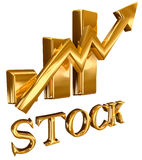 bary diagram złocistego zapas Zdjęcie Stock