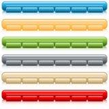 bary guzików nawigaci ustalonej sieci ilustracji