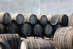 Baryłki z winem Obraz Royalty Free
