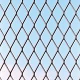 Barykada pojedynczy stalowy drut przy dniem Fotografia Stock