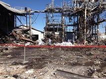 Barykadujący azbestowy cleanup miejsce Obraz Royalty Free