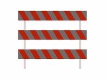 Barykady dla use z drogami Zdjęcia Royalty Free
